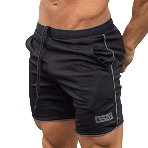 Kurze Hosen für Herren, Skxinn Fitness Basketball Trainingsshorts für Männer Hosen, Atmungsaktiv, Sommer Herren-Sporthosen Trainingshosen Workout Fitness Short Pants,Bodybuilding-Shorts(Grau,2XL) - Boss Hugo Smoking