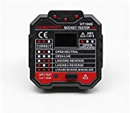 HT106 Socket (UK) Tester Pro RCD GFCI Voltage Measurement + LED light indication