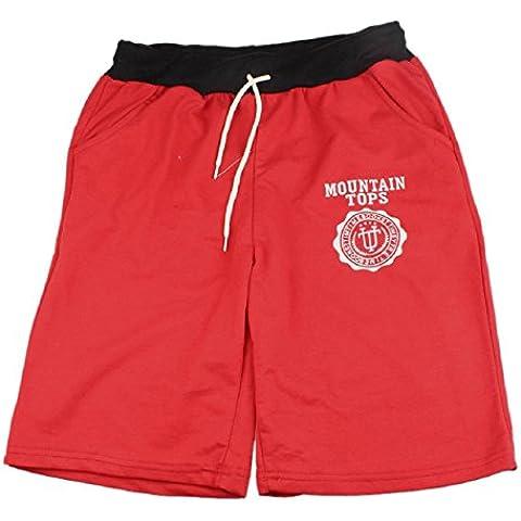 Malloom®moda hombres mezcla de algodón Pantalones cortos gimnasio deporte pantalones casual nuevo (3)
