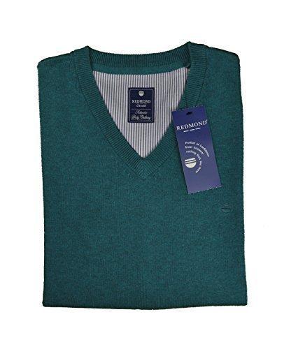 Pull-over à col v pour homme dans différents coloris, marque rEDMOND (art. :  600) Turquoise - Turquoise