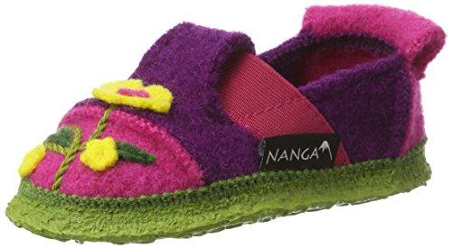 Nanga Flower Power, chaussons d'intérieur fille Violett (Bordeaux)