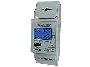 montajes eléctricos: Velleman EMDIN02 - Medidor de kwh para uso profesional, doble módulo, montaje en...