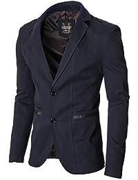 MODERNO - Slim Fit Sport Herren Sakko Blazer Jacke (MOD14518B)