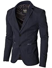 Idea Regalo - MODERNO - Slim Fit Giacca Uomo - Blazer (MOD14518B) Blu Scuro EU XL