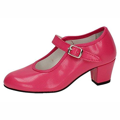 MADE IN SPAIN 15 Zapato DE SEVILLANAS NIÑA Zapatos TACÓN Fuxia 32