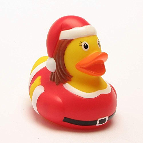 Lilalu 8 x 8 cm/50 g Collector and Baby Christmas Woman Rubber Duck Bath Toy by Lilalu