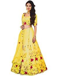 a1ad334561 Amazon.in  Yellows - Lehenga Cholis   Ethnic Wear  Clothing ...