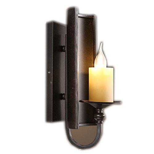 Ziehen Sie den Schwanz des Dorfes der Retro-Eisen-Kerze-Halter-kreative Wand-Lampe ( Farbe : Weißes Licht ) (Der Hai Eisen)