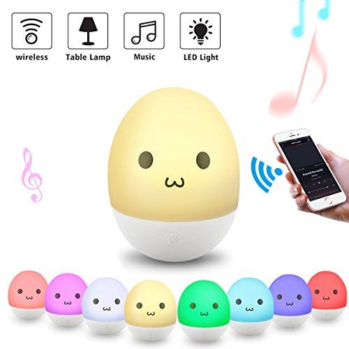 Lights & Lighting Led Lamps Portable Night Light Gift Bluetooth Speaker Multi-color Control Bedside Lamp Children Baby Music Adult Tumbler Led