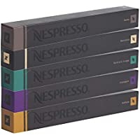 Nespresso Cápsulas originales Caffe Surtido, 50Cápsulas–10x Roma 10x Ristretto 10x Fortissio 10x Arpeggio 10x Volluto–Compatibles originales