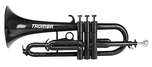 Classic Cantabile Tromba ABS Kunststoff Flügelhorn (Monel-Ventile, Gewicht nur 560g, inl. Mundstück, Tasche & Reinigungsset) Schwarz