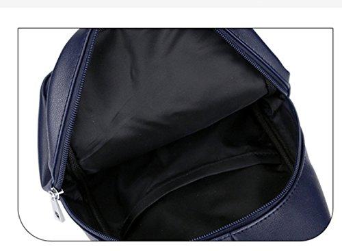LAIDAYE Lässige Sportschulterkurierbeutel Geschäftspaket Der Männer Schulterbeutel Brusttasche Blue