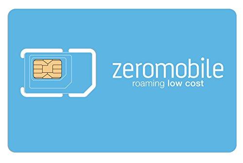 Scheda SIM Zeromobile Zero Voce 25 - Zero roaming all'estero risparmi fino all'85%