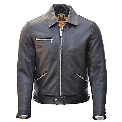 c Rocker 1950er-Style Leder Motorrad Biker Jacke ()