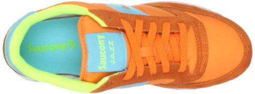 Saucony Jazz Original S1044-389, Chaussures de Tennis Femme Orange/Bright Blue