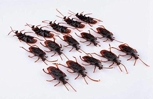 thematys Cucarachas 20 Piezas como una decoración de Halloween aterradora - sorprendentemente Real para Momentos impactantes