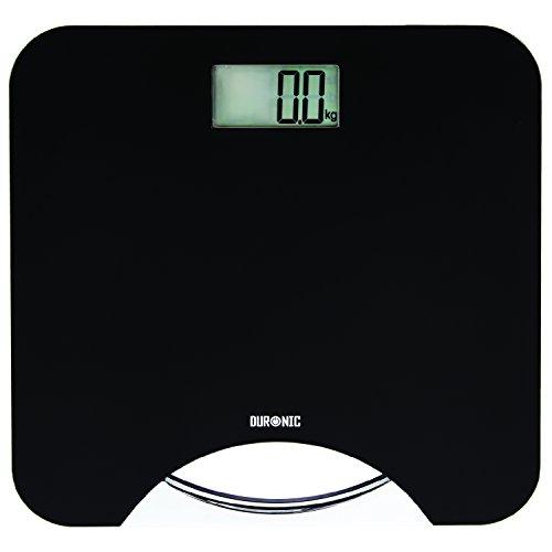 Duronic BS801 Bilancia pesa persona digitale elettronica professionale Bilancia da bagno portata 180 kg / 400 lb Schermo LCD Spegnimento automatico Vetro temperato