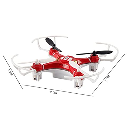 Helicopter,Clode® Mini Explorers RC Quadcopter 4CH 2.4GHz 6-Axis Gyro LED Drone 3D Flying (Red)