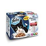Felix So gut wie es aussieht Doppelt lecker gemischt Cat Food 12x 100g