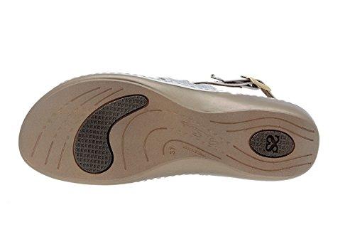 Chaussure femme confort en cuir Piesanto 8824 sandale semelle amovible confortables amples Hielo