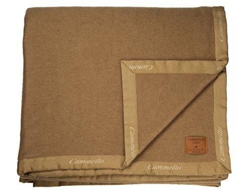 Zenoni & colombi coperta in 100% pura lana di cammello (matrimoniale)