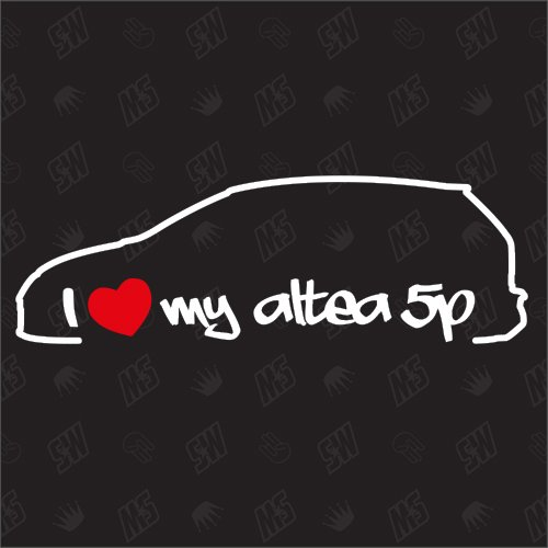 speedwerk-motorwear I Love My Altea 5P - Sticker für Seat Bj 04-15, Auto Tuning Fan Aufkleber