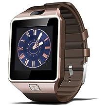 Relojes Hermosos, Para Vestir - para - Smartphone DZ09 - Reloj elegante - Bluetooth 4.0 -Llamadas con Manos Libres/Control de Medios/Control de ( Color : Oro )