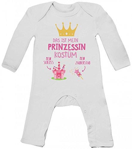 rkleidung Baby Strampler Langarm Schlafanzug Jungen Mädchen Das ist mein Prinzessin Kostüm 1, Größe: 6 - 12 Monate,White (Prinzessin Kostüme Für Jungen)