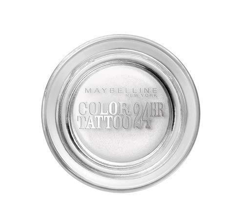 Maybelline New York Lidschatten Eyestudio Color Tattoo 24h Infinite White 45 / Gel-Cream Eyeshadow Weiß metallic, langanhaltend, 1 x 4 g