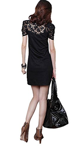 sexylady - Robe - Pull - Manches Courtes - Femme Noir - Noir