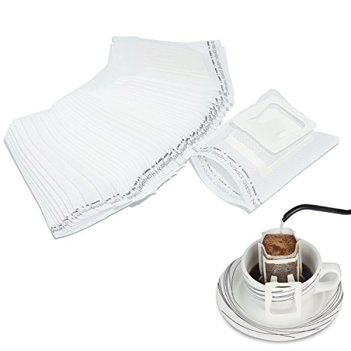 Kaffee Filter Tasche mit Ohr Aufhänger, goodchanceuk 50/Set zum Aufhängen Ohr Drip Kaffee Filter tragbar Tee Filter weiß