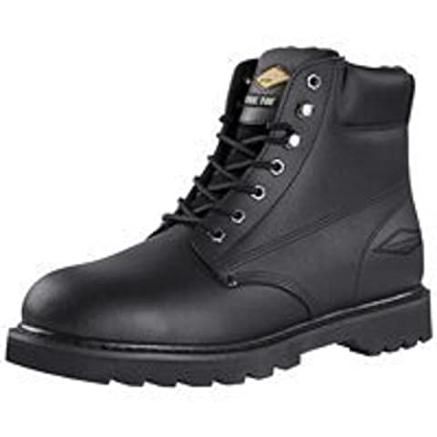 Diamondback 655SS-11 Work Boot 11 in Unisex Black Action Leather