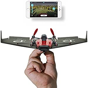 Official PowerUp FRV Paper Airplane W / Smartphone Compatible VR Headset & Drone