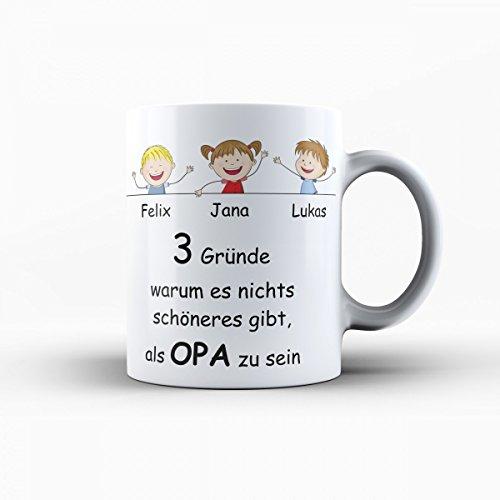 Creativgravur® Geschenk für Oma und Opa die schönsten Oma & Opa Tassen im Set - Geschenk perfekte für Großvater und Großmutter (Opa Tasse)
