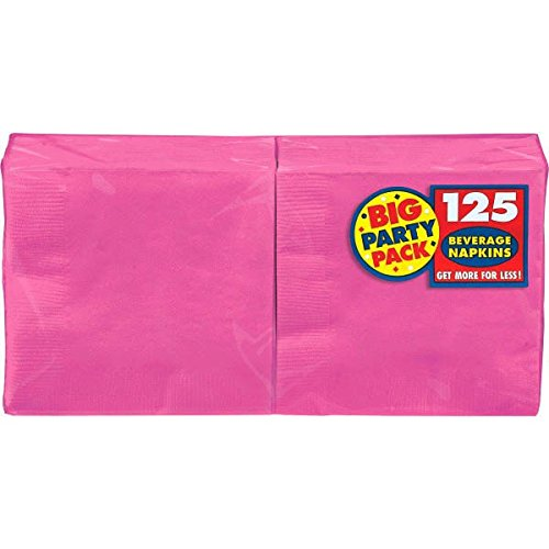 Kost-me 203235 Bright Pink Big Party Pack-Getr-nke Servietten