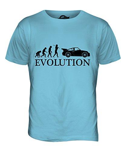 CandyMix Sportswagen Evolution Des Menschen Herren T Shirt Himmelblau