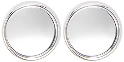 Sumex 1035520 Car Convex Round Blind Spot Mirrors - Chrome (Pack of 2)