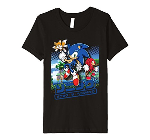 official-modern-sonic-t-shirt-kinder-grosse-128-schwarz
