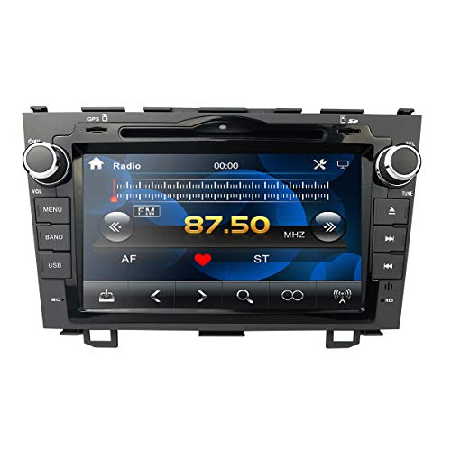 hizpo 8 Pulgadas Radio estéreo del Coche Reproductor de DVD GPS Mirrorlink Bluetooth OBD2 Pantalla táctil Multi Soporte del Volante Control Vista Posterior Cámara de Respaldo para Honda CRV 2007-2011