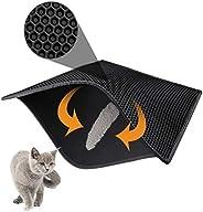 """Mumoo Bear Cat Litter Mat Litter Trapping Mat, 30"""" X 24"""" Inch Honeycomb Double Layer Design Waterpro"""