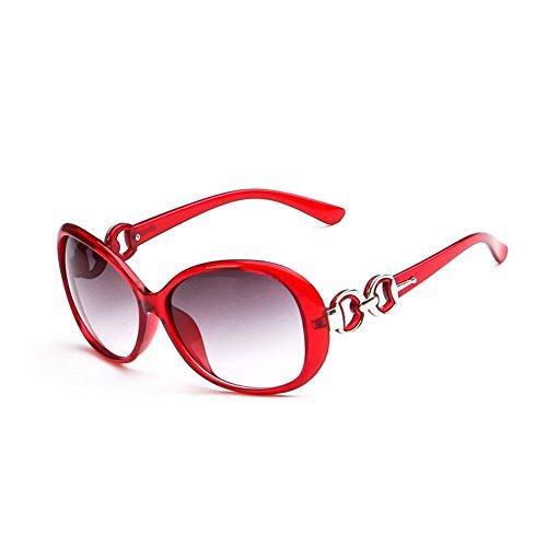 Westeng Frauen polarisierten Sonnenbrillen Dame Brillen mit großem Rahmen UV 400 Schutz für das Fahren / Angeln / Golf,Dunkelrot