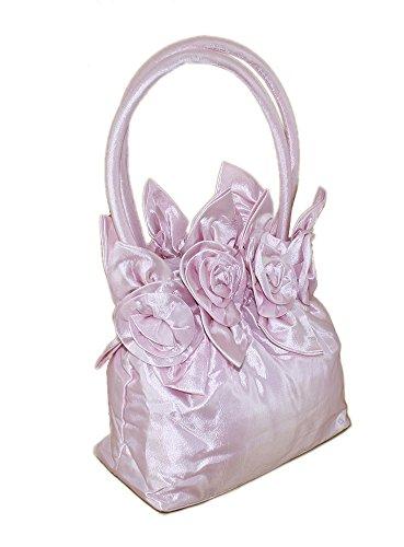 Borsa di céérémonie con manico, per donna o bambina Rosa (rosa)
