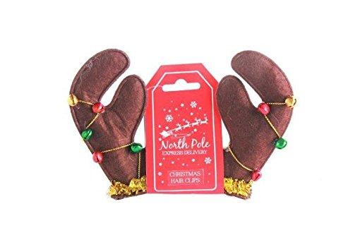 2er Set Weihnachten Mini Rengeweih Hut Haarklammern festlich Kostüm Party - Festliche Rentier Kostüm