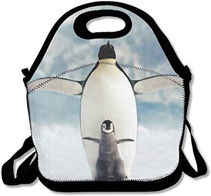 Lunchbox mit Pinguine zum Fliegen von Lebensmitteln, personalisierbar, bedruckt, multifunktional, für Erwachsene und Kinder - Pinguin Lunch-box