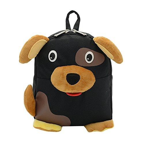 Imagen de  infantiles kukul  patrón de perro bebé bolsa para la escuela negro