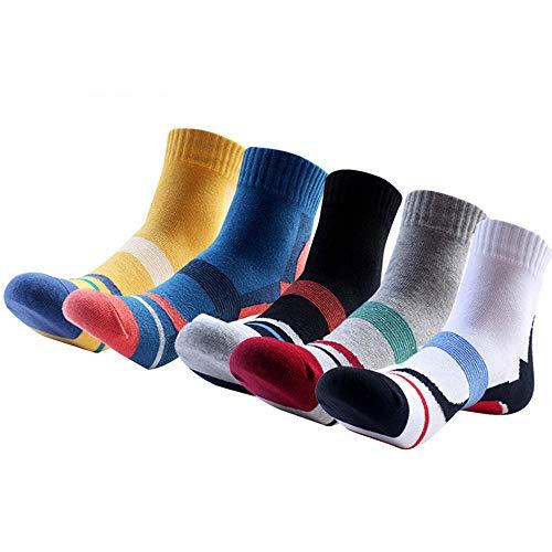 LYDIAMOON Calze Sportive da Uomo, Compressione Professionale da Corsa Calzini da Basket Outdoor Escursionismo Calzino in Cotone Assorbente