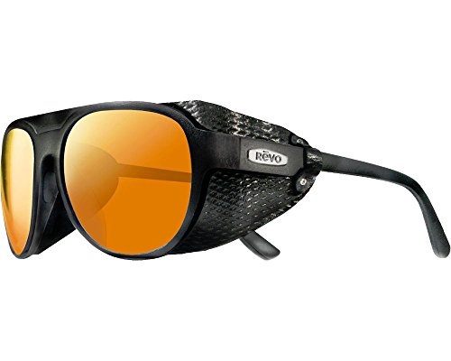 6825079f83f Revo Gafas de Sol TRAVERSE RE 1036 MATTE BLACK SOLAR ORANGE POLARIZED  unisex adulto