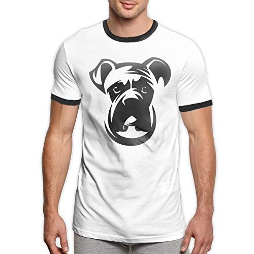 Patrick R Garrett Boxer-Hund T Shirts Trendy Herren Ringer T-Shirt Weiches Kurzarm T-Shirt Top -