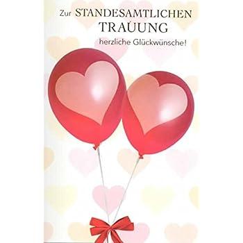 Standesamtlichen Trauung Hochzeit Karte Grusskarte Ehe Ringe 16x11cm