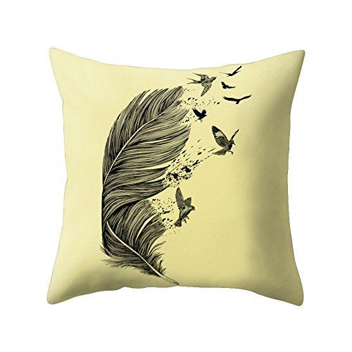 Pu Ran - Funda de cojín con diseño de atrapasueños de plumas, funda de almohadón para decoración de sofá, 2#, talla única